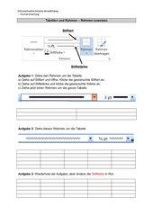 Tabellen und Rahmen - Rahmen zuweisen