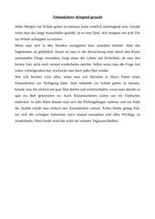 Diktat Getrennt- und Zusammenschreibung