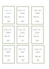 Lesekette - Wortbildung mit -er (nach Blue Line 2, Unit 1)