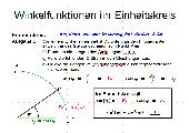 Trigonometrische Funktionen im Einheitskreis