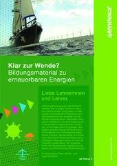 Bildungsmaterial erneuerbare Energien: Klar zur Wende? (ab Klasse 9)