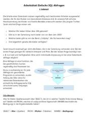 Einführung in SQL Datenbanken mit Open Office DB