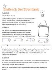 Einführung Elektrizitätslehre - Experimente an Stationen