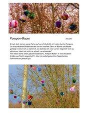 Pompon-Baum - Schulhofgestaltung