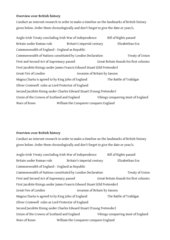 Timeline landmarks of British history