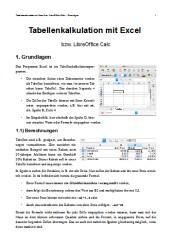 Einstieg in Excel-Calc