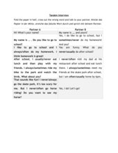 Tandem Interview adverbs of frequency