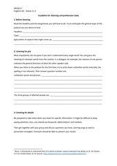 Guideline für eine Hörenverstehensaufgabe