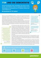 Bildungsmaterial Handelsabkommen (Ergänzungsblatt): TTIP und die Demokratie (ab Klasse 9)