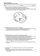 Klausur Cytologie Klasse 11