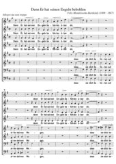 Felix Mendelssohn-Bartholdy: Denn Er hat seinen Engeln - Motette für achtstimmigen Chor