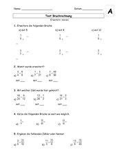 Mathematik: Arbeitsmaterialien Erweitern, Kürzen ...
