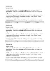 Puzzle Adverbiale Bestimmungen mit AA und Lösung