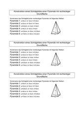 Schrägbilder von rechteckigen Pyramiden