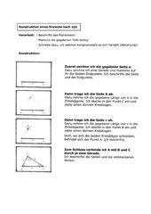 Konstruktionsanleitungen für Dreiecke