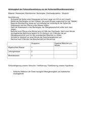 Versuch: Abhängigkeit der Fotosyntheseleistung von der CO2-Konzentration