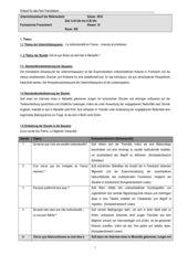 Examensentwurf Französisch Multikulturalität 10. Klasse