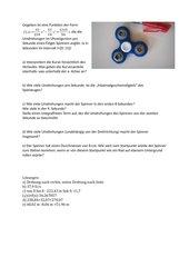 Integral und Differentialrechnung mit dem Fidget Spinner