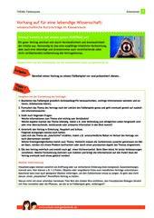 Arbeitsblatt: Wissenschaftliche Kurzvorträge zur Gentechnik