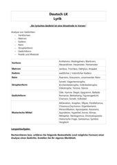 Bestandteile einer Gedichtanalyse (Deutsch LK)
