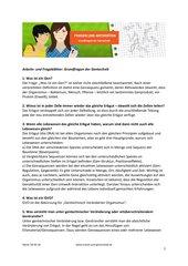 Frageblatt: Grundfragen der Gentechnik