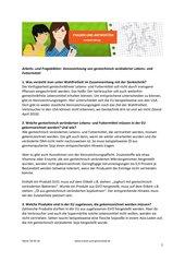 Frageblatt: Kennzeichnung gentechnisch veränderter Lebensmittel