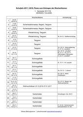 Jahresplanung Werken 5 Schulstufe