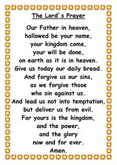 The Lord's Prayer - Plakat