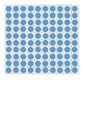 Hunderterfeld Punkte blanko