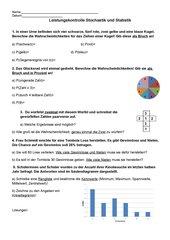 Übungsblatt/ Leistungskontrolle Stochastik und Statistik