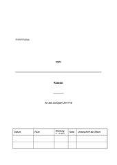 Deckblatt Probenmappe