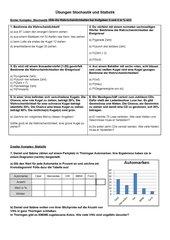 Übungsblatt Stochastik und Statistik