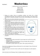 Maskenbau Klasse 6