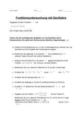 Funktionsuntersuchung mit GeoGebra