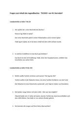Fragen und Lösungen zu Tschick