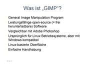 Einführung GIMP (Bildbearbeitung)