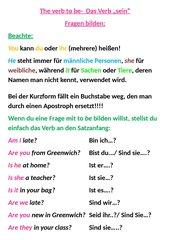 The verb be Fragen bilden