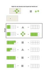 Platzhalteraufgaben im ZR bis 10 (mit Anschauungsmaterial Kutzerzug)