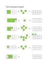 Addition im Zahlenraum bis 10 (Anschauungsmittel Kutzerzug)