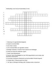 Kreuzworträtsel Schutzvorschriften