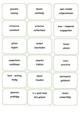 Charaktereigenschaften Karten