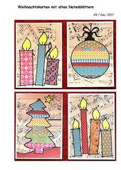 Weihnachtskarten mit alten Notenblättern