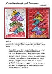 Weihnachtskarte mit Doodle Tannenbaum
