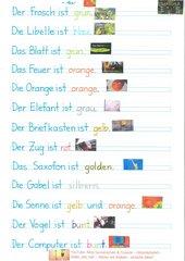 Einfache Sätze verstehen, schreiben, lesen und nachsprechen