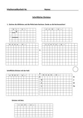 Schriftliche Division - Klassenarbeit