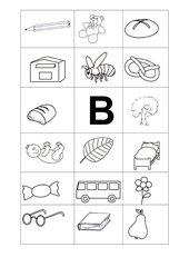 Buchstabenbilder B