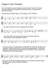 Singen in der Tonleiter