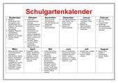 Schulgartenkalender