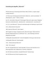 Entwicklung des Österreich-Begriffes