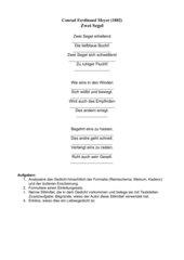 Deutsch Arbeitsmaterialien Material Zu Einzelnen Gedichten